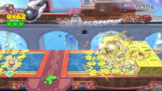 Super Mario 3D World Mundo 3-BOSS Asalto al convoy Bill Bala