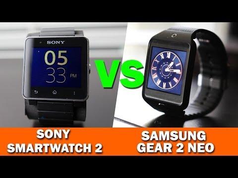 Samsung Gear 2 Neo VS Sony SmartWatch 2 Full Comparison