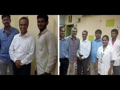 Vijay visits hospital to enquire about Ajith's surgery & met him personally?