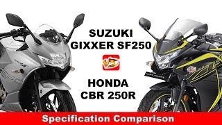 Suzuki Gixxer SF250 v/s Honda CBR 250R.