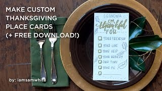 Make Your Own Custom Thanksgiving Place Cards Free Download VideoMp4Mp3.Com