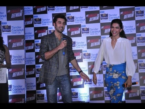 Ranbir Kapoor & Deepika Padukone At YJHD Tie Up With Parachute Coconut Hair Oil