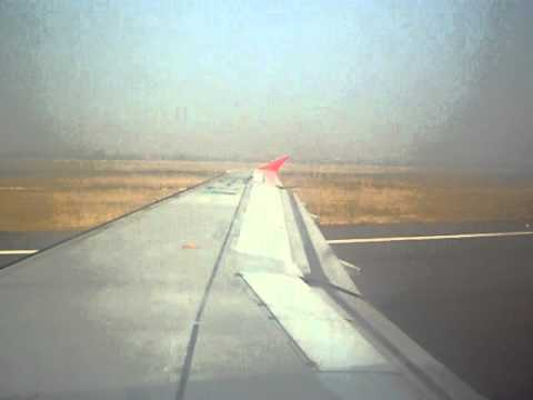 Air India Airbus A320 take off from Delhi (DEL - Indira Gandhi Airport)