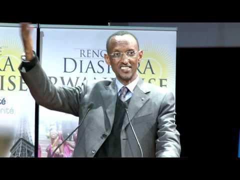 President Kagame meets Rwandan Diaspora in Paris- 11 August 2011