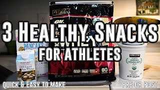 3 Healthy Post/Pre Workout Snacks For Soccer Players |Quick To Make|