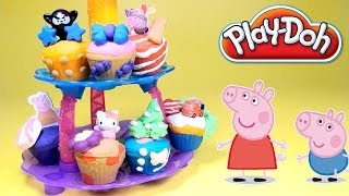 Peppa Pig Play Doh Cupcake Tower Playset Hasbro Toys How to make Playdough Cupcakes