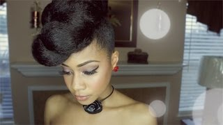 Extravagant Faux Updo Protective Hairstyle Hair Tutorial on Natural Hair
