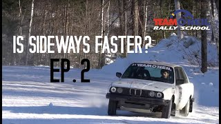 Is Sideways Faster? Ep2: RWD Snow and Ice