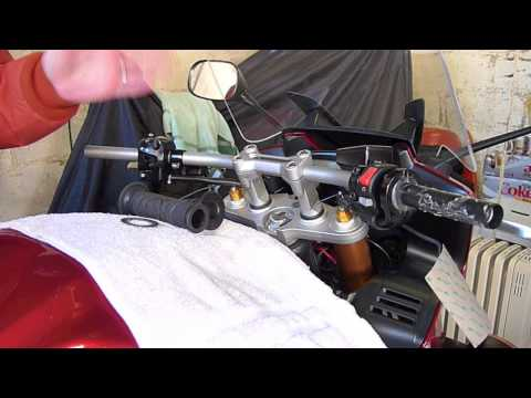 Installing grip heaters on a Yamaha FZ1