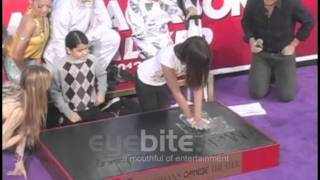 MICHAEL JACKSON hand and foot print ceremony at Grauman