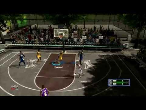 NBA 2K13 - Blacktop Gameplay Feat Allen Iverson, Dwight Howard & Kobe
