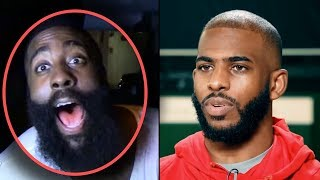 "James Harden Reacts To Chris Paul DEMANDING TRADE TO LAKERS! ""TRADE HIM NOW"""