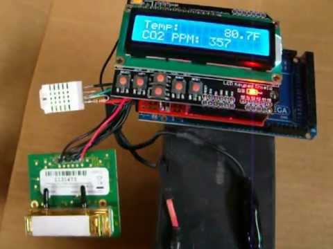 Homemade Arduino based Indoor Air Quality CO2 PPM, Temperature, Humidity Monitor
