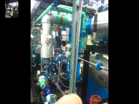 Methanol water distillation unit at Nunez community college