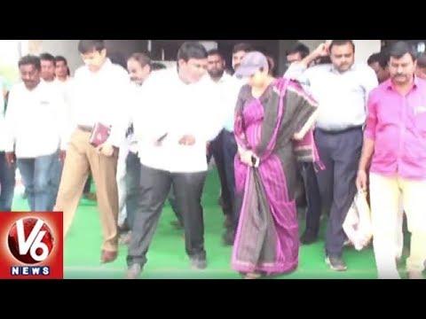 CMO Special Secretary Smita Sabharwal Inspects Mission Bhagiratha Works In Rajanna Sircilla | V6