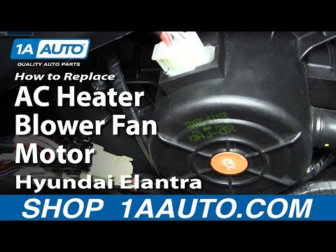 How To Replace Install AC Heater Blower Fan Motor 2001-06 Hyundai Elantra