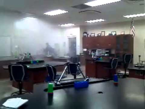 Highschool chemistry lab gets flooded