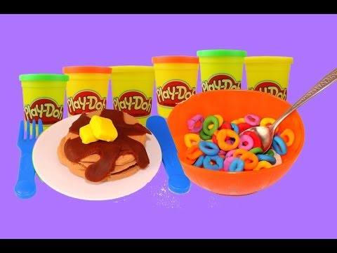 AllToyCollector VS DisneyCarToys Play Doh Breakfast Pancake and Fruit Loops Cereal Play Dough