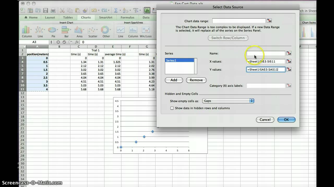 how to move graph in excel