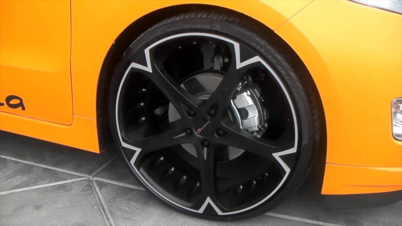 Chevy Volt Custom Wheels >> DUBSandTIRES.com CHEVY VOLT ON 22'' CUSTOM GIOVANNA WHEELS ASANTI FORGIATO RIMS - YouTube