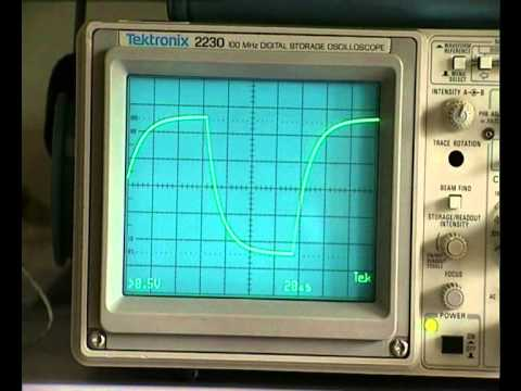 How to measure the capacitance of a cap with an oscilloscope.