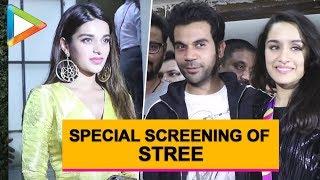 Celebs SPOTTED at special screening of Rajkummar Rao-Shraddha Kapoor starrer STREE | Part 1