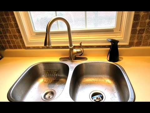 How To Remove Old Faucet and Install New Kitchen Faucet / Tap & Soap Dispenser   Detail Instructions