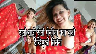 सेतो कटु माथी रातो सारी || Hot facebook live || trisna budathoki