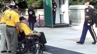 South Alabama Honor Flight Wreath Presentation- Tomb of the Unknown