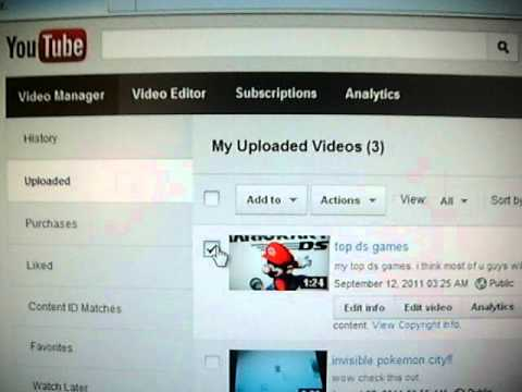 How To Delete You Tube Video video
