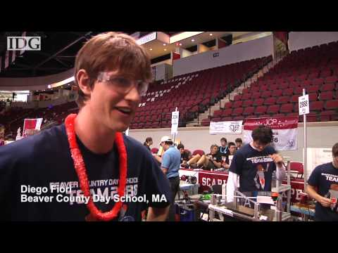 Students use homemade robots in competition