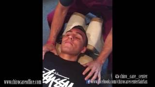 1st Chiropractic Adjustment on Scoliosis Patient