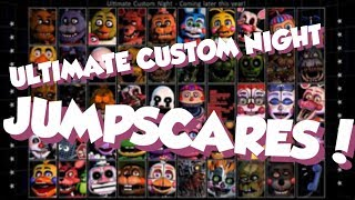 ALL JUMPSCARES + VOICES IN ULTIMATE CUSTOM NIGHT!! // FNaF Ultimate Custom Night