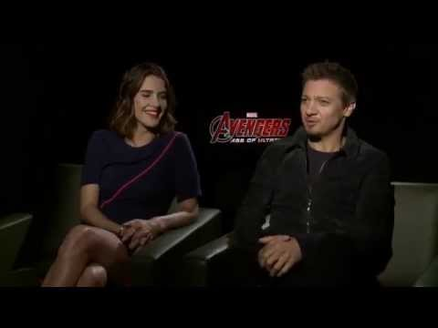 Avengers: Age of Ultron press tour interview - Jeremy Renner and Cobie Smulders