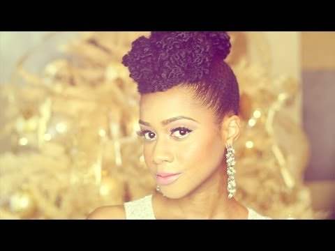 """Natural Hair"" Updo Hairstyle New Year"