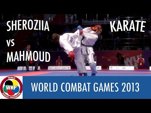Karate Women's Kumite -68kg. SHEROZIIA vs MAHMOUD. World Combat Games 2013