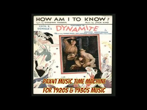 Gene Austin - How Am I To Know?