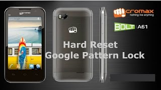 How to Hard Reset Micromax Bolt A61 | Unlock Google Pattern Lock Micromax A61