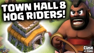 "Clash of Clans ""Hog Rider Three Stars"" Town Hall 8 Attack Strategy in Clash!"