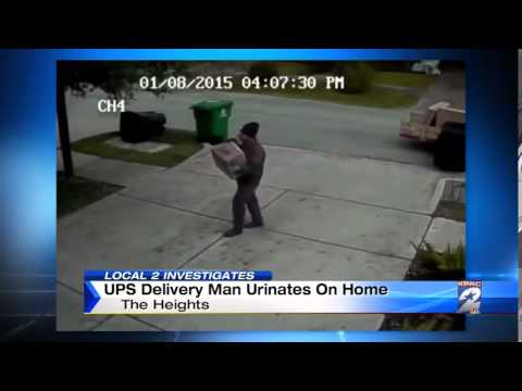 An Angry Ups Driver Marks His Territory During A D