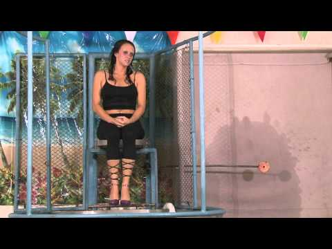 Dunk Tank Featuring Jayce in Black Leggings