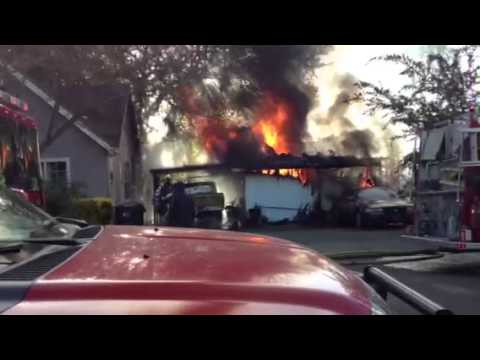 Fire on Coast Street in Willits Ca April 28, 2013