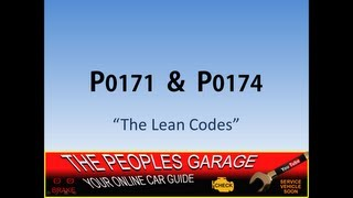 How to Diagnose Codes P0171 & P0174 - Lean Bank 1 & 2