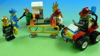 "Lego City Lính Cứu Hỏa (Bí Đỏ)"" Lego City"" Fire Fighter Rescues Gas Station"
