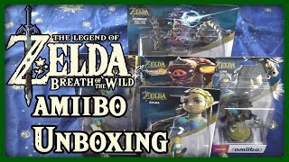 THE LEGEND OF ZELDA BREATH OF THE WILD amiibo UNBOXING IN 4K