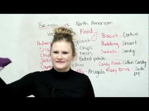 British & American English: Food Vocabulary