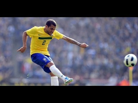 Dani alves Great freekick vs South Africa. 25-06-09.