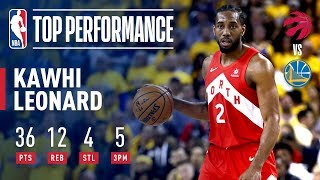 Kawhi Leonard Drops A Finals Career-High 36 Points In Game 4 | 2019 NBA Finals