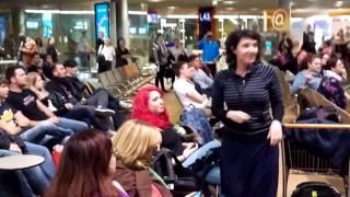 Disney's Frozen flash mob at Paris CDG airport