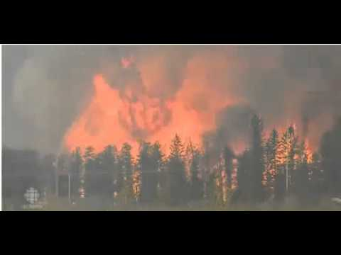 Wildfire Engulfs City Fort MacMurray Canada Burning to the ground